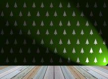 Christmas tree wallpaper with light Stock Photos