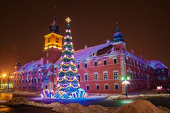 Christmas tree in Warsaw. Christmas tree in the old town of Warsaw Royalty Free Stock Photo