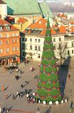 Christmas tree in Warsaw Stock Photos