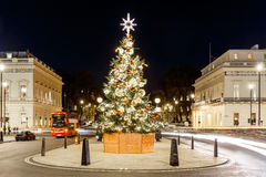 Christmas tree on Waterloo place in 2016, London Royalty Free Stock Images