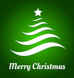 Christmas tree from waves Stock Photography
