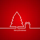Christmas tree web design, red background Royalty Free Stock Photos