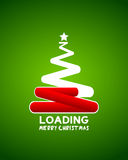 Christmas tree web loader waiting concept. Abstract background Royalty Free Stock Photo