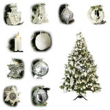 Christmas tree white Stock Photos