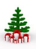 Christmas tree on white Royalty Free Stock Image