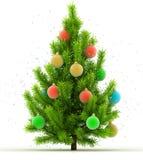 Christmas tree on white. 3d illustration of christmas tree on white background Stock Photography