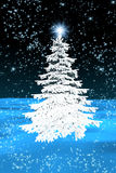 Christmas tree white Stock Photography