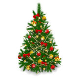 Christmas tree on white background Royalty Free Stock Images