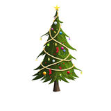 Christmas tree. On white background vector illustration