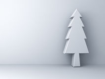 Christmas tree on white background for christmas decoration stock illustration
