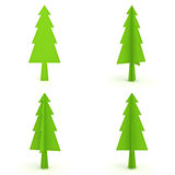 Christmas tree on white background for christmas decoration. 3D rendering Royalty Free Stock Image