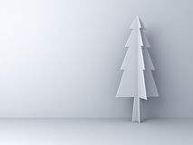 Christmas tree on white background for christmas decoration with shadow Royalty Free Stock Images