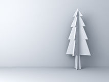 Christmas tree on white background for christmas decoration with shadow Stock Photography