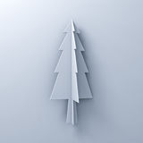 Christmas tree on white background for christmas decoration with shadow Royalty Free Stock Photos