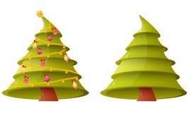 Christmas tree on white background Royalty Free Stock Photo