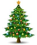 Christmas tree on a white background. Illustration of Christmas tree on a white background Royalty Free Stock Image