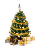 Christmas tree on white background stock image