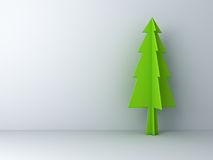 Christmas tree on white background with shadow for christmas decoration Royalty Free Stock Photos
