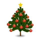 Christmas tree on a white background Royalty Free Stock Photography