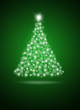 Christmas tree from white balls Stock Images