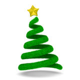 Christmas tree on white. 3d image Royalty Free Stock Images