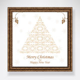 Christmas Tree white Royalty Free Stock Images