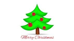 Christmas Tree on White. Motion Xmas Background. stock video footage