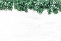 Christmas tree on white snow background. Christmas tree white snow background stock photography
