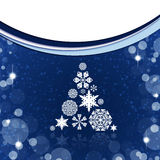 Christmas tree from white snowflakes Stock Photography
