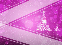 Christmas tree from white snowflakes. On magenta background Royalty Free Stock Photography