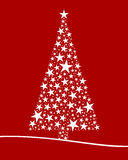 Christmas tree from white stars Royalty Free Stock Photos