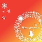 Christmas tree in white Wreath Stock Photo