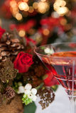 Christmas tree and wine Stock Images