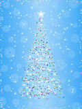 Christmas tree on winter background. Stylized  christmas tree on winter background Royalty Free Stock Image