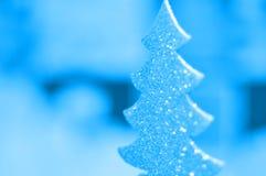 Christmas tree winter background Stock Photo