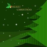 Christmas tree on wintertime Royalty Free Stock Photo