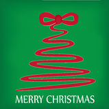 Christmas tree. Wish Christmas tree from ribbon on a green background Royalty Free Stock Images