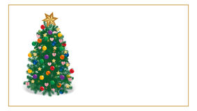 Christmas tree. Wishes to ornate glowing Christmas tree Royalty Free Stock Photography