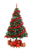 Christmas Tree With Gifts Royalty Free Stock Photos