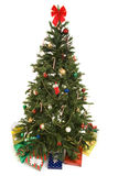 Christmas Tree With Gifts Isolated Stock Image