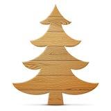 Christmas tree of wood  on white background Royalty Free Stock Photo
