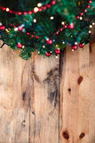 Christmas tree on wooden background Stock Image