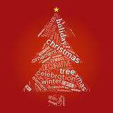 Christmas tree with words Stock Photo
