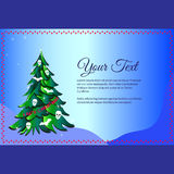 Christmas tree with words I hate Christmas. Frame for text Royalty Free Stock Images