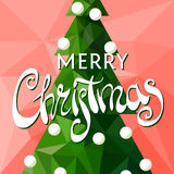 Christmas tree with the words Merry Christmas Royalty Free Stock Image