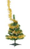 Christmas tree wrapped in tinsel. Stock Image