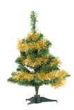 Christmas tree wrapped in tinsel. Royalty Free Stock Photo