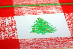 Christmas Tree Wrapping Paper Royalty Free Stock Images