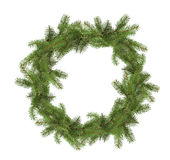 Christmas tree wreath isolated on the white background Royalty Free Stock Photography