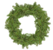 Christmas tree wreath isolated on the white background Royalty Free Stock Images